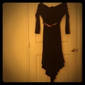 Dresses & Skirts - Black dress with tail